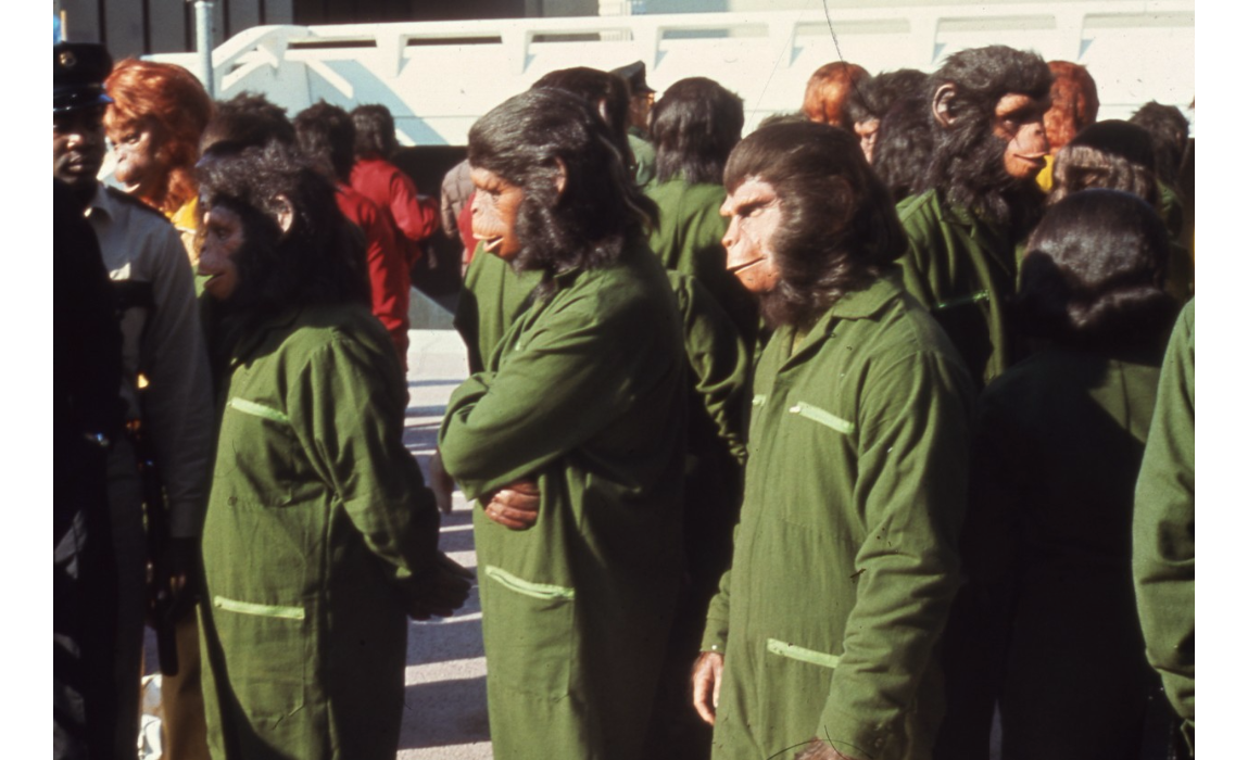 Conquest of the Planet of the Apes films on campus, 1972.