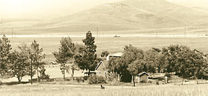 The Ranch House, near what is now the center of UCI campus, circa 1960.