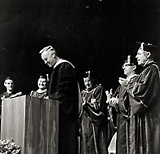 Chancellor Daniel Aldrich on his inauguration day, May 20, 1966.