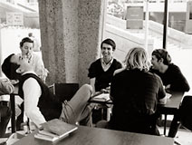 Students find time to socialize in Gateway Commons, 1966.