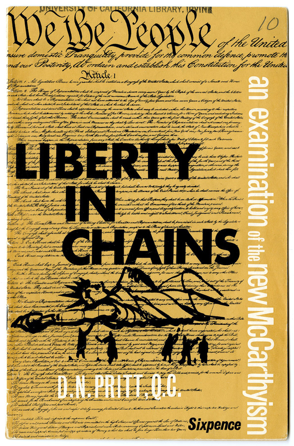 Liberty in Chains: An Examination of the New McCarthyism.