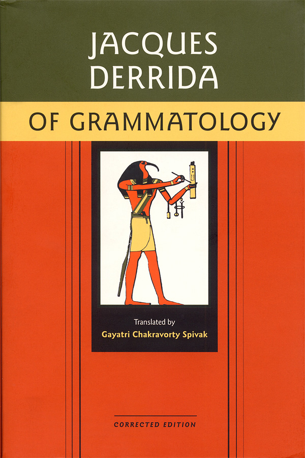 Cover of Jacques Derrida's of Grammatology