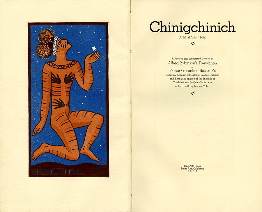 """The Ascension of Chinigchinich to the Heaven of Stars."""